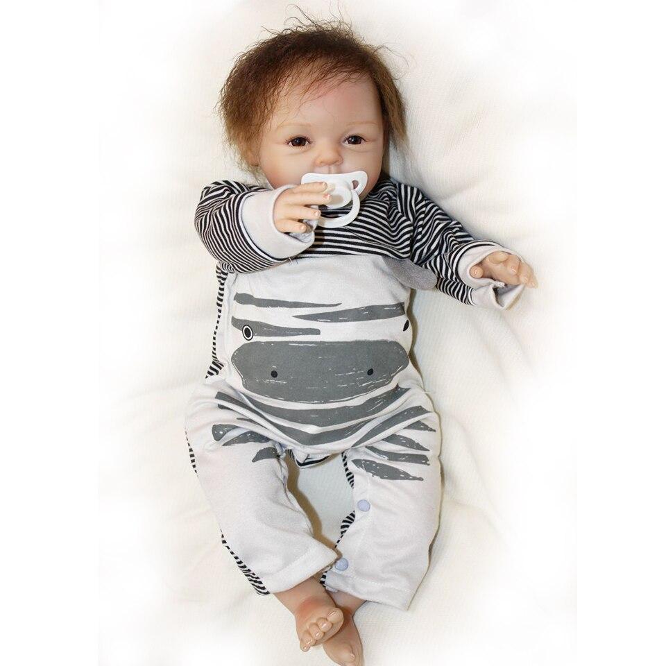 55 cm Silicone souple reborn bébé garçon poupée jouet lol réaliste mignon garçon nouveau-né bebe reborn bonecas mode anniversaire surprise cadeau - 4