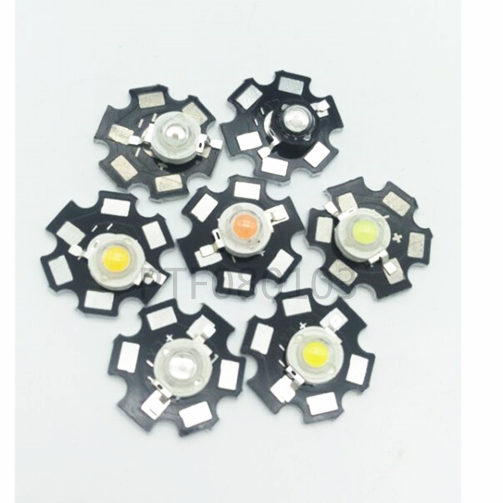 10PCS 1W Led Chip High Power LED Beads 100-110LM Pure White GOOD QUALITY