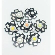 10 pçs de alta potência led chip 1 w 3 cob smd led grânulo branco rgb crescer espectro completo 1 3 w watt