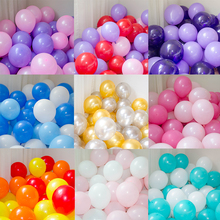 BTRUDI 50pcs 10inch 2.2gThickening Balloon mixed color Party Birthday Mall Scene Decoration and Wedding Creative Balloons