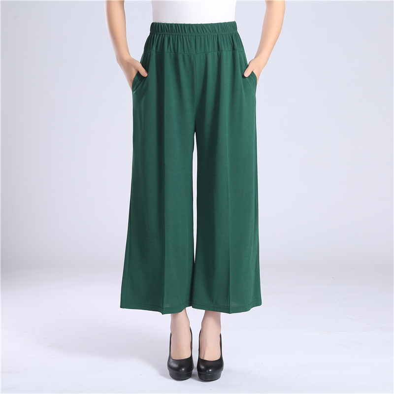 2019 Casual Loose High Waist   Wide     Leg     Pants   Womens Elegant Fashion Trousers Female Pure Color Summer Women   Pants   Plus Size 4XL