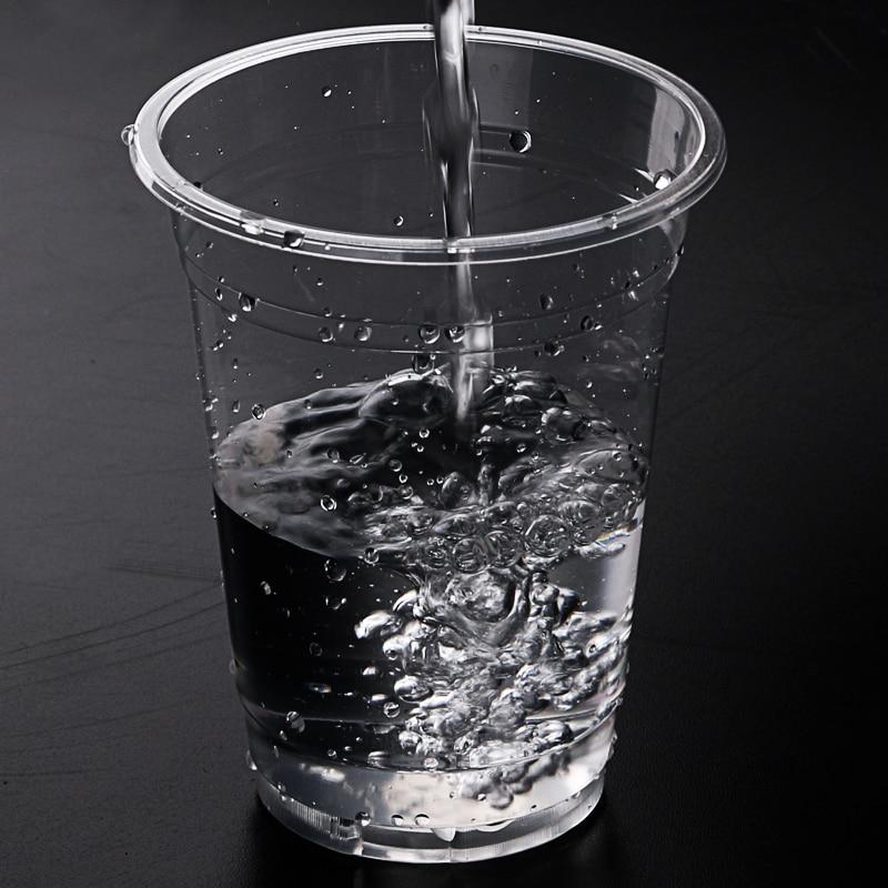 100PCS Disposable Plastic Water Cup Glass Plastic Mug Tea ...