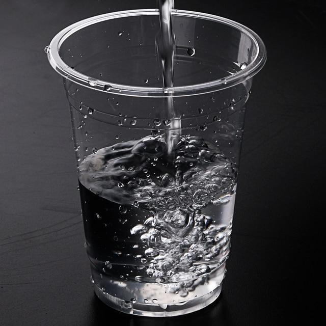100PCS Disposable Plastic Water Cup Glass Plastic Mug Tea