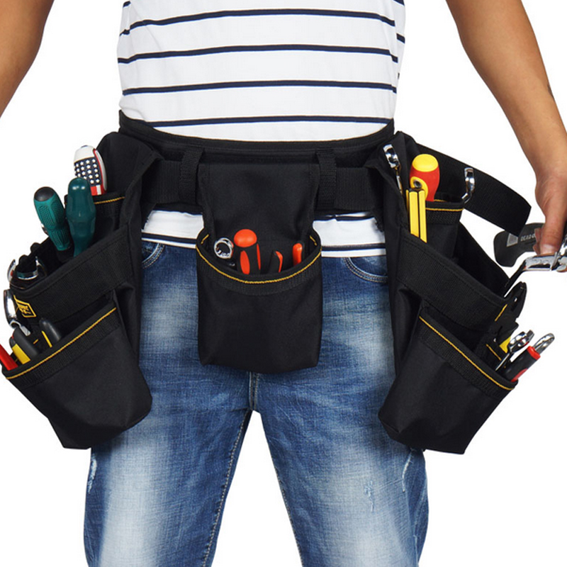 Oxford Cloth Tool Belts Waist Bag Tool Bag Electrician Work Bags for or Hammer Screwdriver Wrench