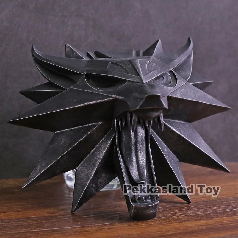 Cheval noir Deluxe The Witcher 3 chasse sauvage loup mur Sculpture Statue PVC Figure à collectionner modèle jouet