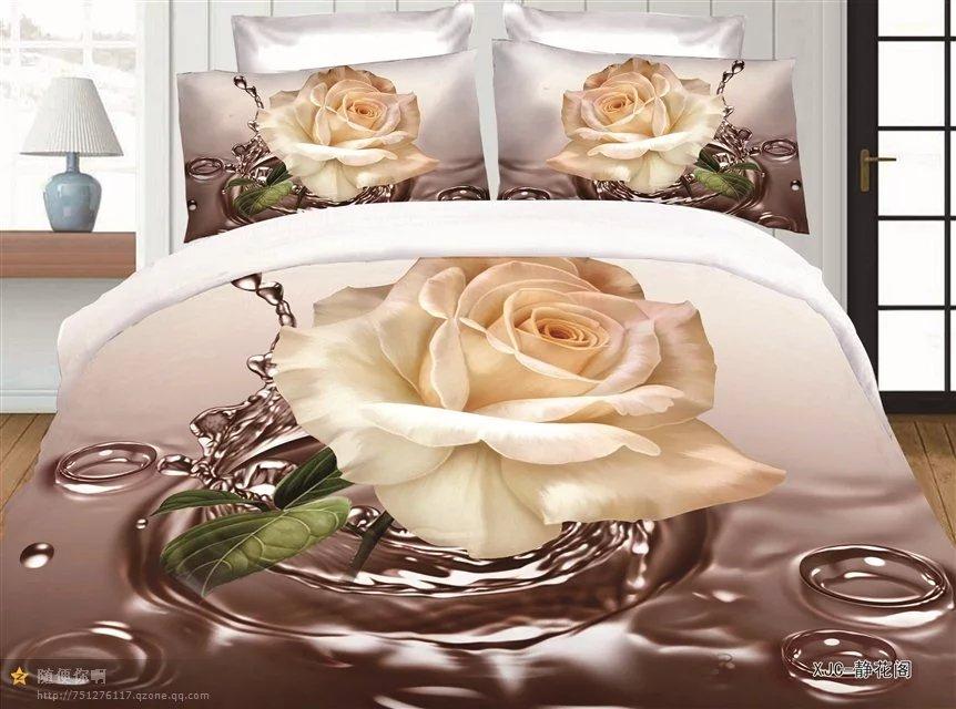 BEST.WENSD western style Home textiles Wedding gift Bamboo fiber double bed Bedding Sets duvet cover +flat BedSheet +pillowcase
