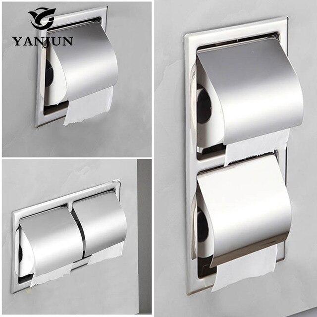 Yanjun встраиваемый/настенный держатель из нержавеющей стали 304, держатель для туалетной бумаги, аксессуары для ванной комнаты, YJ 8850