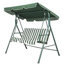 Горячая GCZW-сад патио металлические качели стул 3 местный гамак скамейка качающаяся мягкая