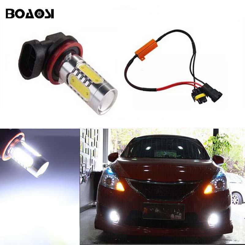 BOAOSI 1x Led COB Lighting 7.5W Car Driving Fog Light Lamp Bulb No Error For LEXUS IS 200 400 for LEXUS IS200 06+ Car Styling boaosi 1x led cob h11 h8 lighting 7 5w car driving fog light lamp bulb no error for skoda octavia 2010 2014 car styling
