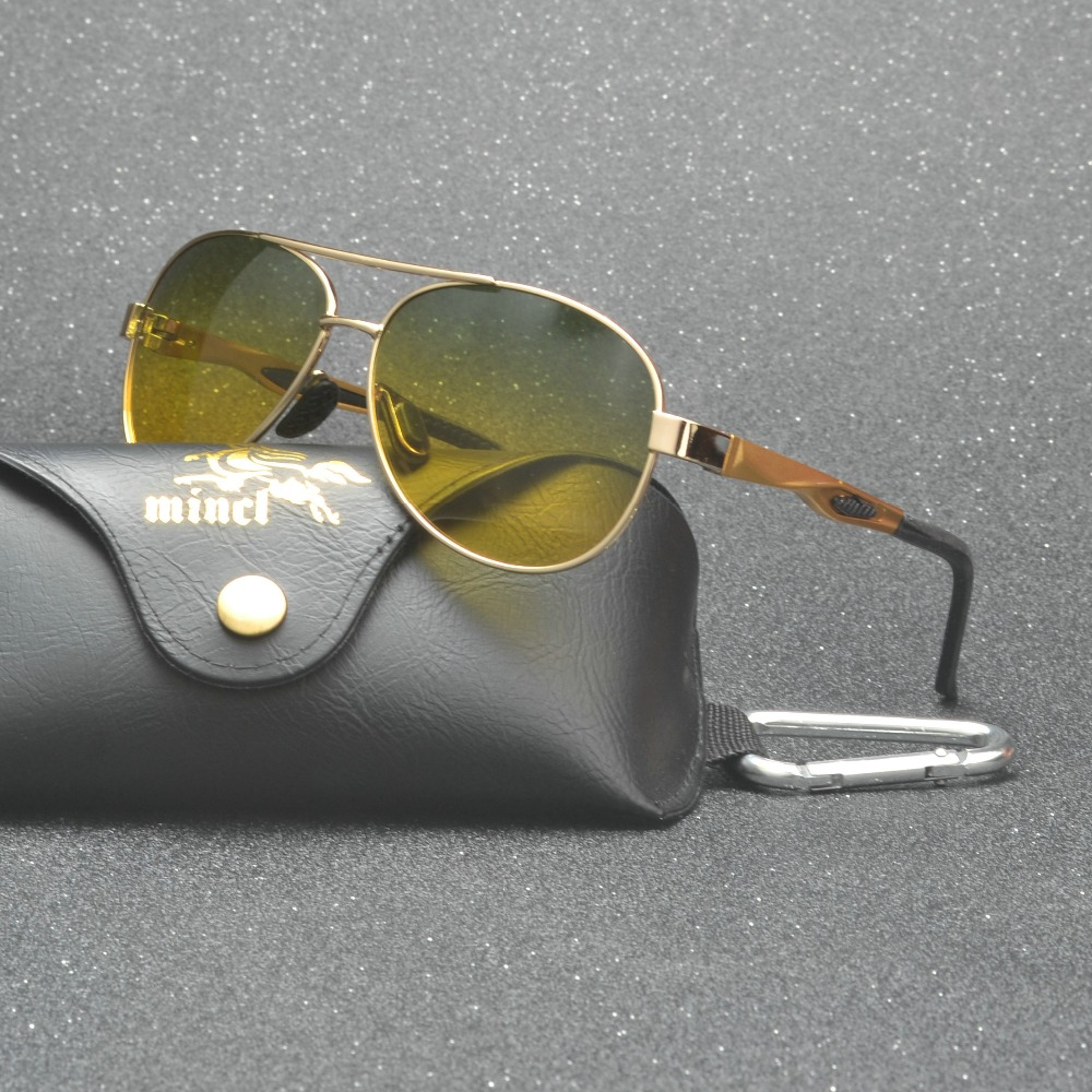 day night vision polarized sunglasses anti-glare night driving glasses Rain and fog days graced men's polarized Sun glasses FML 1