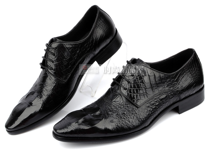 7795beabb0358 High Classy Black Dark Brown Cowhide Leather Crocodile Pattern Men Dress  Shoes Lace Up Wedding Shoes For Men Chaussure Homme on Aliexpress.com |  Alibaba ...