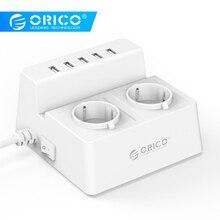 ORICO гнездо питания стандарта ЕС ODC-2A5U умная розетка переменного тока 110 V-240 V 50/60HZ Поддержка 5 USB порт многофункциональная розетка