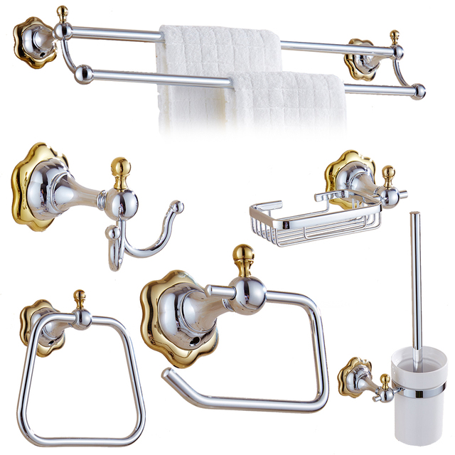 bathroom accessories sets silver. Modern Silver Flower Design Bathroom Accessories Set Polished Chrome Brass Hardware Sets Products