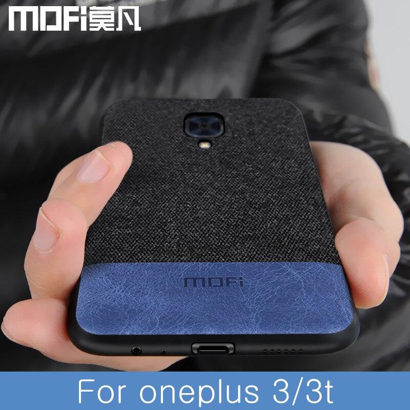 Para oneplus 3 t tampa da caixa à prova de choque 1 + 3 1 + 3 t tecido pano tampa traseira casos capas de proteção caso MOFi original one plus 3
