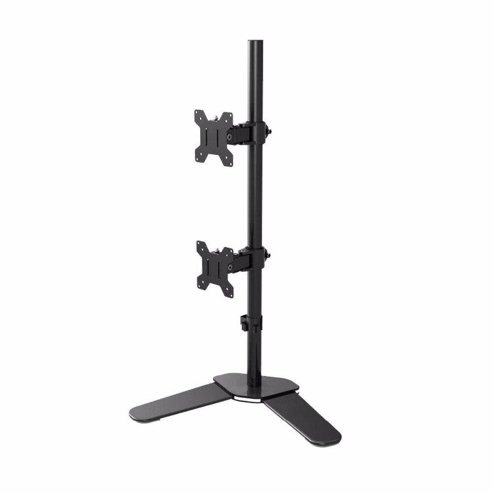 Suptek Double LCD LED Moniteur Stand Support De Bureau Support Heavy Duty Empilés, Détient Vertical 2 Écrans up ML6802