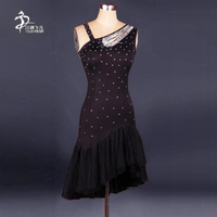 Latin Dance Dress Salsa Tango Cha cha Ballroom Rhinestone Competition Dress