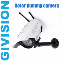 Fake Dummy Solar CCTV Security Surveillance Camera Outdoor Wireless Powered Security CCD Blinking LED Light Fake