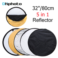 32 80cm 5 In 1 New Portable Collapsible Light Round Photography Photo Reflector For Studio