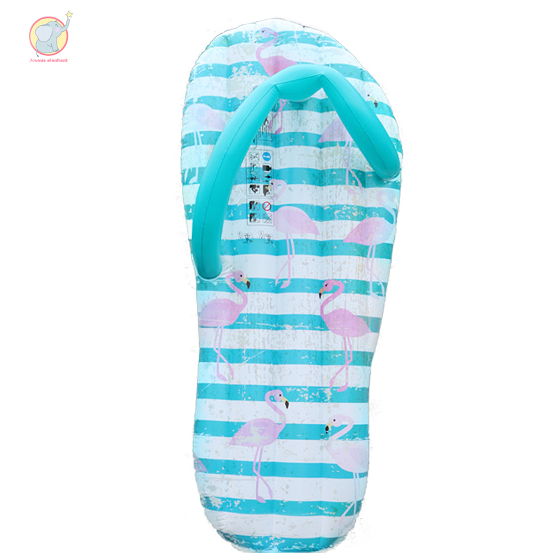 165cm inflatable slipper pool float flamingo pink pattern air mattress swim buoy pool flotador water fun adult outdoor toys