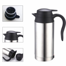 750ML Stainless Steel 12V Car Heated Travel Mug Thermos Heating Cup Kettle Car Coffee Cup Auto