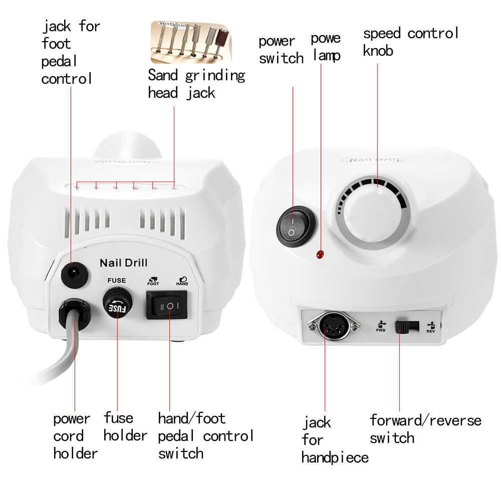 "Abody 30000 סל""ד Pro נייל מניקור מנגנון חשמלי תרגיל ציפורניים מכונת עבור מניקור פדיקור ערכת נייל מקדחת קובץ קצת נייל כלים"