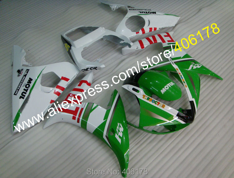 Hot Sales,Hot Sale YZF R6 05 YZFR6 YZF 600R6 YZF R6 2005 Green White motorbike for Yamaha Fairing Body Kit (Injection molding) hot sales for yamaha yzf600 r6 fairings kit 2008 2009 2010 2011 2012 2013 2014 yzf r6 motorbike body yzfr6 injection molding