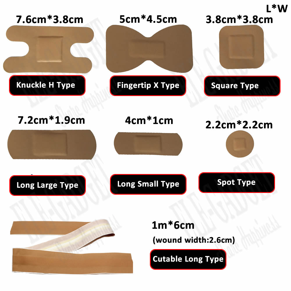 50-Pcs Waterproof Wound Plaster Medical Anti-Bacteria Band Aid Wound Dressing For Home Travel First Aid Kit Emergency Kits