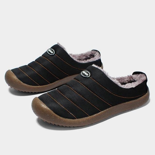 4b4b99dd78a SHUJIN 2019 nuevas zapatillas de algodón Unisex de invierno para adultos  abrigadas zapatillas con suela gruesa