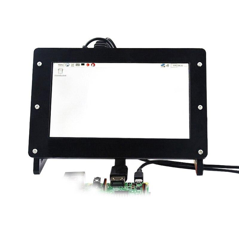 7 pouces moniteur 1204x600 HDMI VGA carte d'entrée + panneau + boîtier