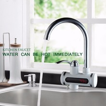 Мгновенное Tankless Электрический Нагреватель горячей Воды Кран Кухня Мгновенный Нагрев водопроводной Воды нагреватель с ЕС разъем