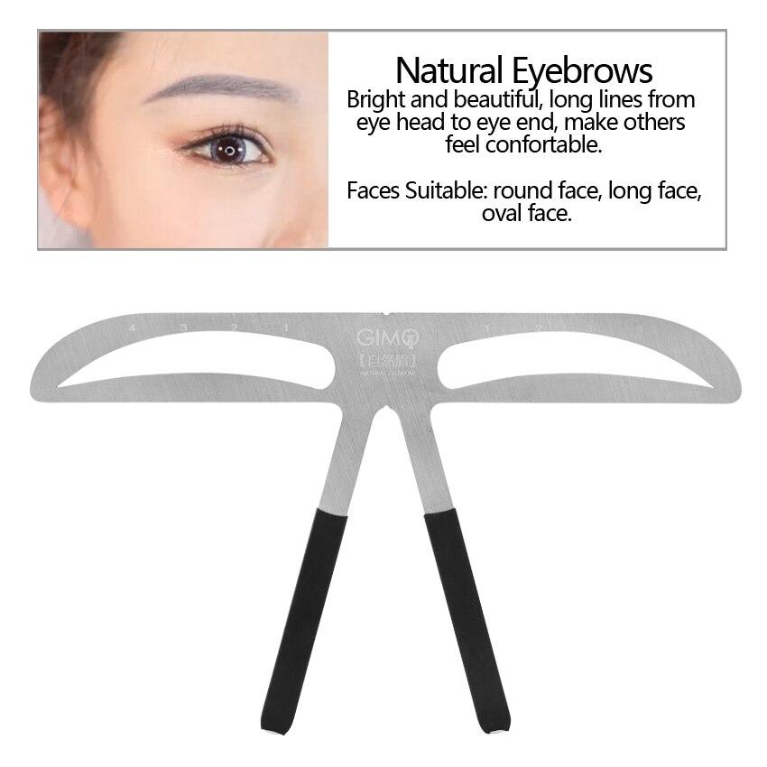 Eyebrow Balance Ruler Permarnent Makeup Eyebrow Ruler Measure Tool Metal Eyebrow Ruler Shaping Stencil Tools Permanent Makeup