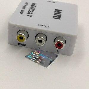Image 4 - HDMI AV Converter hdmi auf cinch RCA CVBS L/R Weibliche auf Buchse Adapter Unterstützung NTSC PAL für DVD HDTV 480 p 1080 p