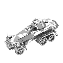 2018 Nan yuan 3D Metal Puzzle 6-Wheeled Heavy Armored Car SD.KFZ.231 DIY Laser Cut Jigsaw Model For Adult kids Educational Toys