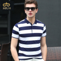 Miuk 2017 Summer Striped Short Sleeve Anti-pilling Classic Man Polo T-shirt High Quality Summer Clothes