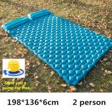 空気防湿キャンプ睡眠パッド膨張式クッション屋外軽量ピクニックビーチチェック柄毛布ホーム休憩エアマット