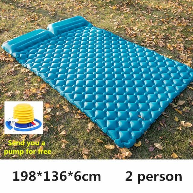Air Moistureproof Camping Mats Sleeping Pad Inflatable Cushion Outdoor Lightweight Picnic Beach Plaid Blanket Home Rest Air Mats