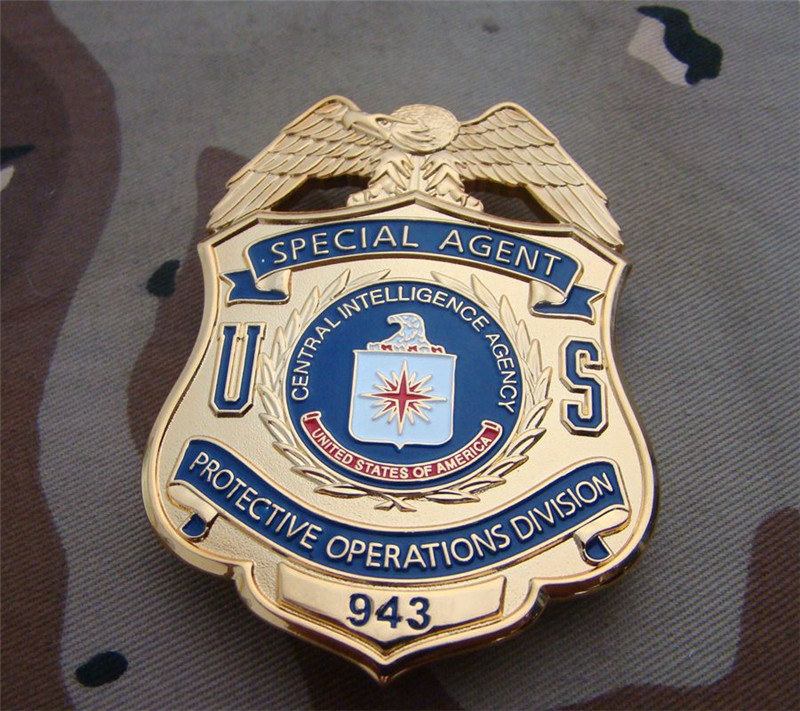 United States Police Special Agent Officer Badges Protective Operations Division Shirt Lapel Badge Brooch Pin Cosplay Collection