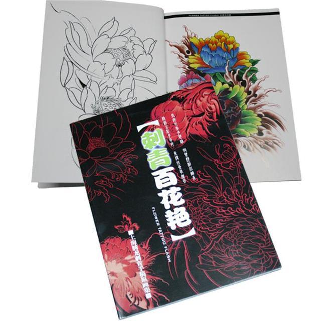Rare Japonais Fleurs Tattoo Flash Livre Lotus Fleurs De Cerisier W