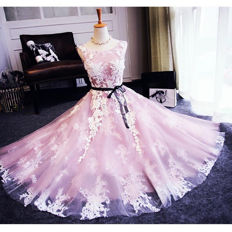 Baratos Elegante marfil rosa de dos colores vestidos de cóctel ...