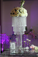 Crystal Flower Stand Chandelier Table Centerpiece