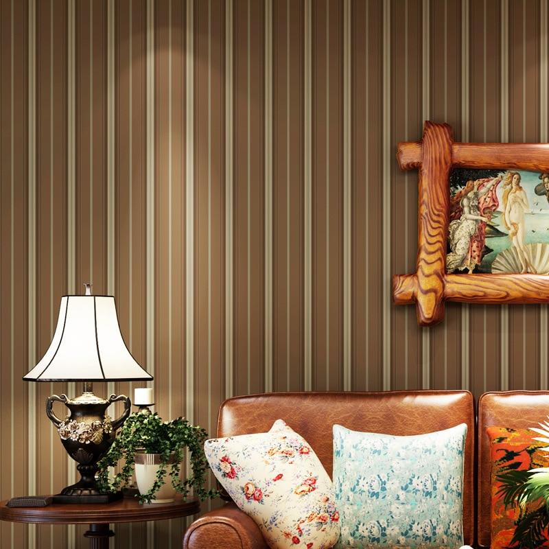 ФОТО beibehang papel de parede Mediterranean blue living room modern minimalist bedroom wallpaper background retro vertical stripes
