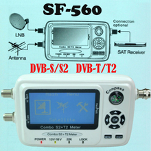 Цифровой спутниковый Finder метр SF 560 сигнала метр SatFinder с компасом DVB-S2 dvb-T2 Сингал комбо SF-560