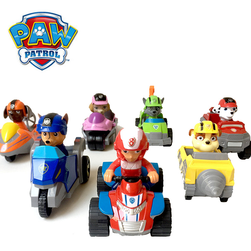 Paw patrol Diecasts Toy Vehicles Alloy pull back children's toy dog patrol rescue car deformation car Toy for children's gift image