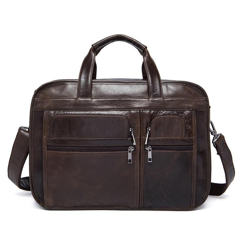business Laptop Bag Men Messenger Bags crazy horse Genuine Leather Bag Men's Briefcases Handbag Totes Men Shoulder Crossbody Bag redfox сумка full size business messenger 1000 черный