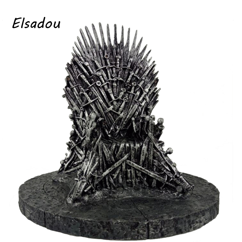 Elsadou 17cm Game Of Thrones A Song Of Ice And Fire Iron Throne Action Figure Toy Doll a song of ice and fire комплект из 7 книг карта