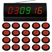 wireless calling system for car shop,bank,novel product for better service,20 pcs service buzzers,1 pc signal receiver