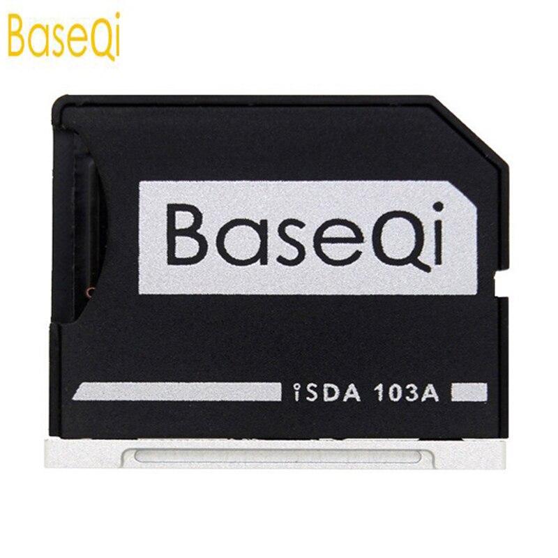 BaseQi Ninja Stealth Drive microSD Adapter for MacBook Air 13and MacBook Pro 13/15 (Non-Retina) Alternative Nifty MiniDrive
