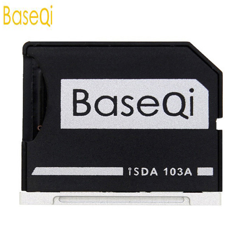 BaseQi Ninja Stealth Drive microSD adaptador para MacBook Air 13 y MacBook Pro 13/15 ( no Retina) alternativa Nifty MiniDrive