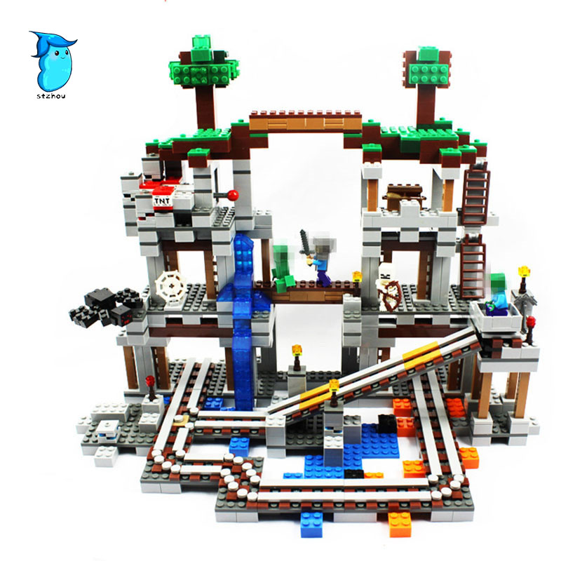 Minecrafted The Mine 922 Pcs Mini Bricks Set Sale My World Building Blocks Assembled Toys For Children Compatible with Legoing