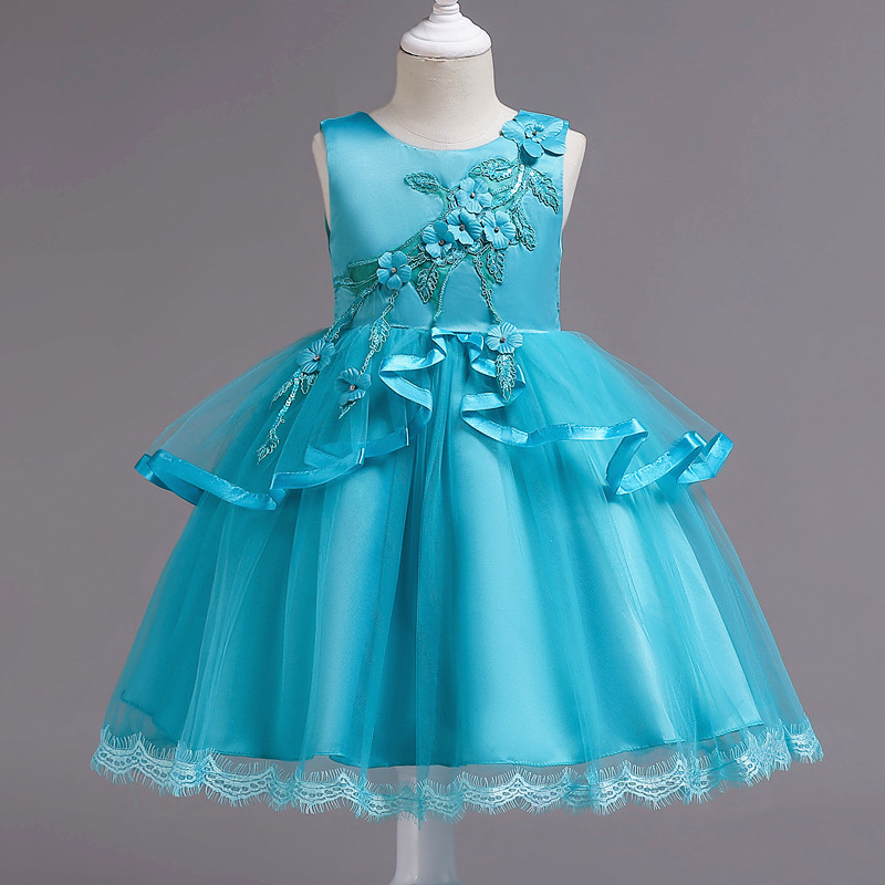 Muium Baby Gril Princess Dress Toddler Baby Kids Girls Flowers Tulle Tutu Dress Sleeveless Princess Dresses Party Dress Clothesfor Bridesmaid Ballroom Gift